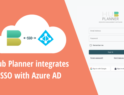 Hub Planner adds Single Sign On SSO via Azure AD