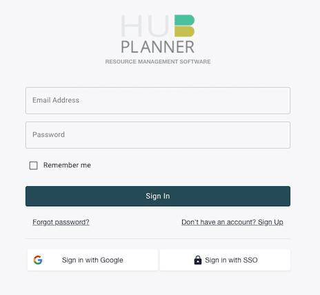 Hub Planner Login SSO